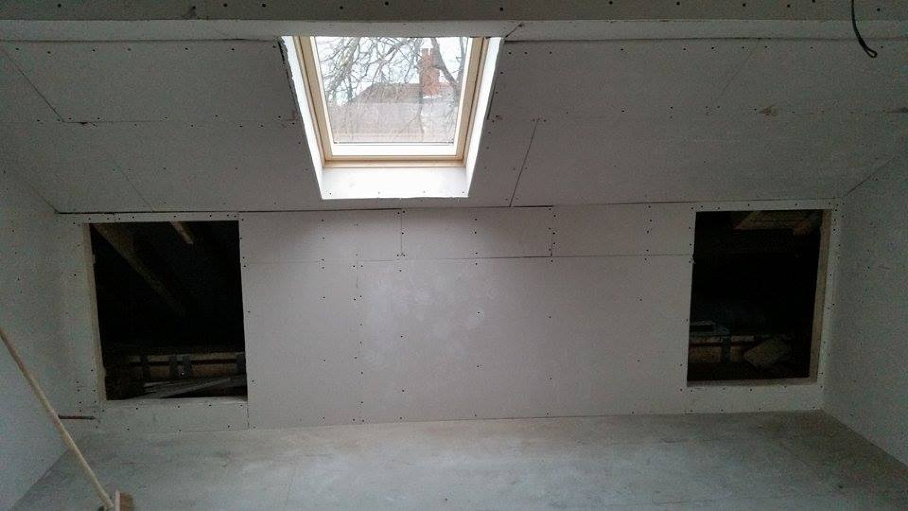 View towards the front of the property, ready for plastering